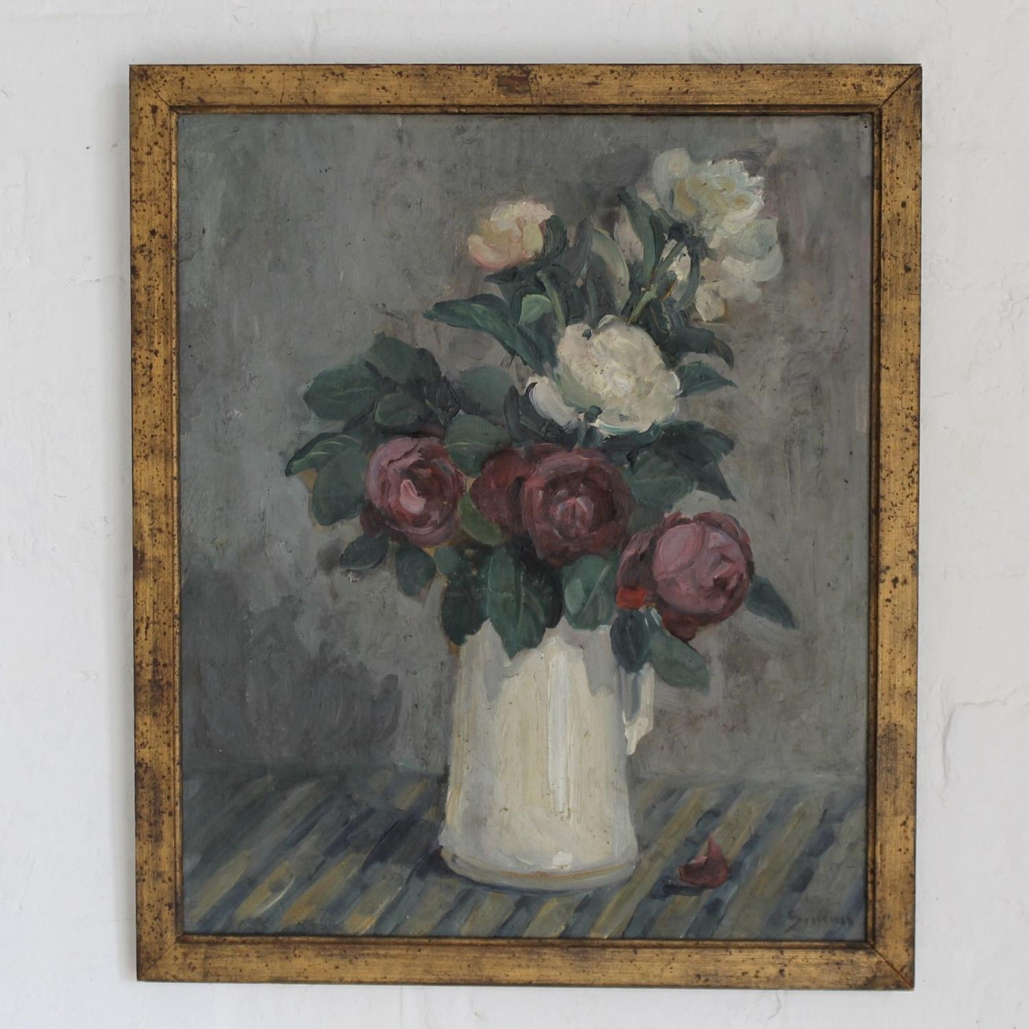Roses and Peonies in Jug