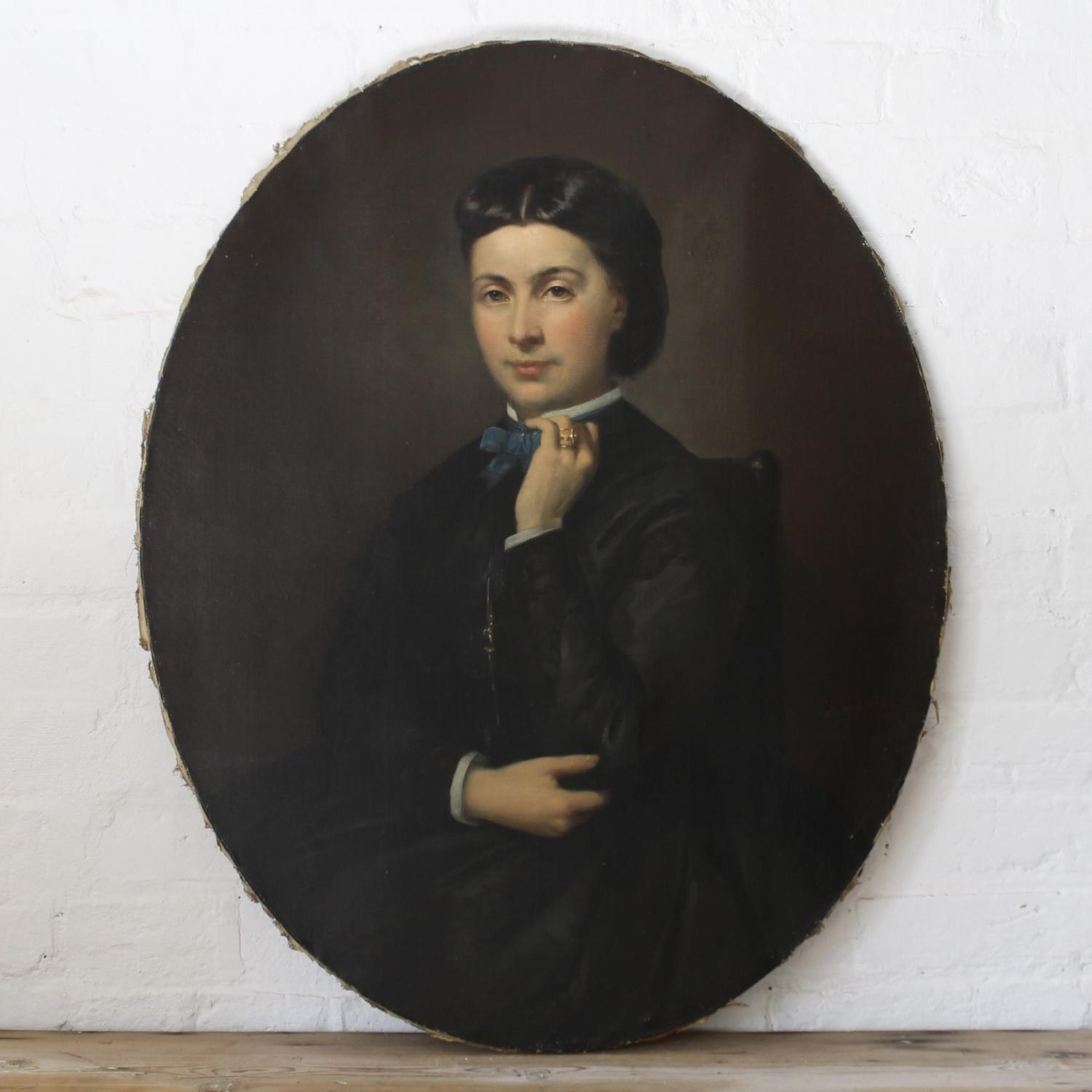 Oval Portrait Of A Young Woman