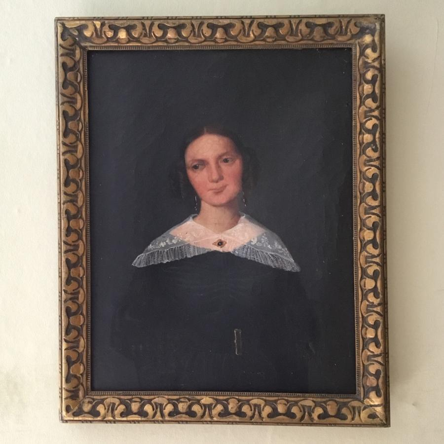 Naive Portrait Of A Young Woman