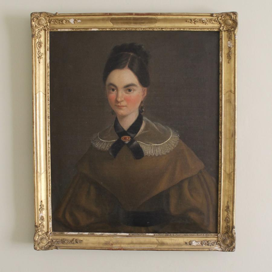 Portrait of A Young Woman In Brown