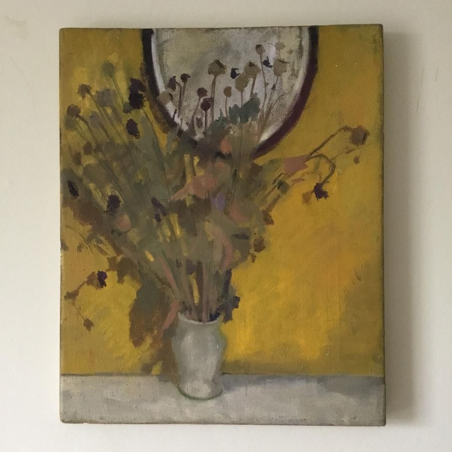 Floral Still Life On Yellow