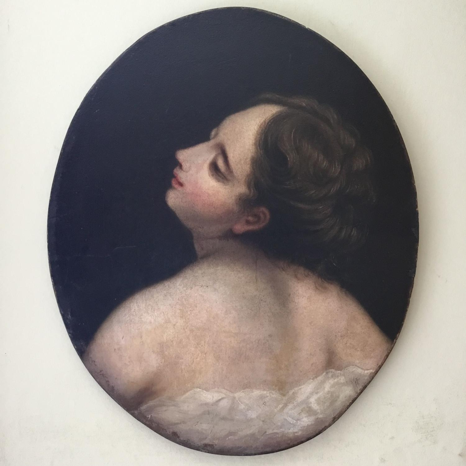Classical Portrait Of A Young Woman in Oval