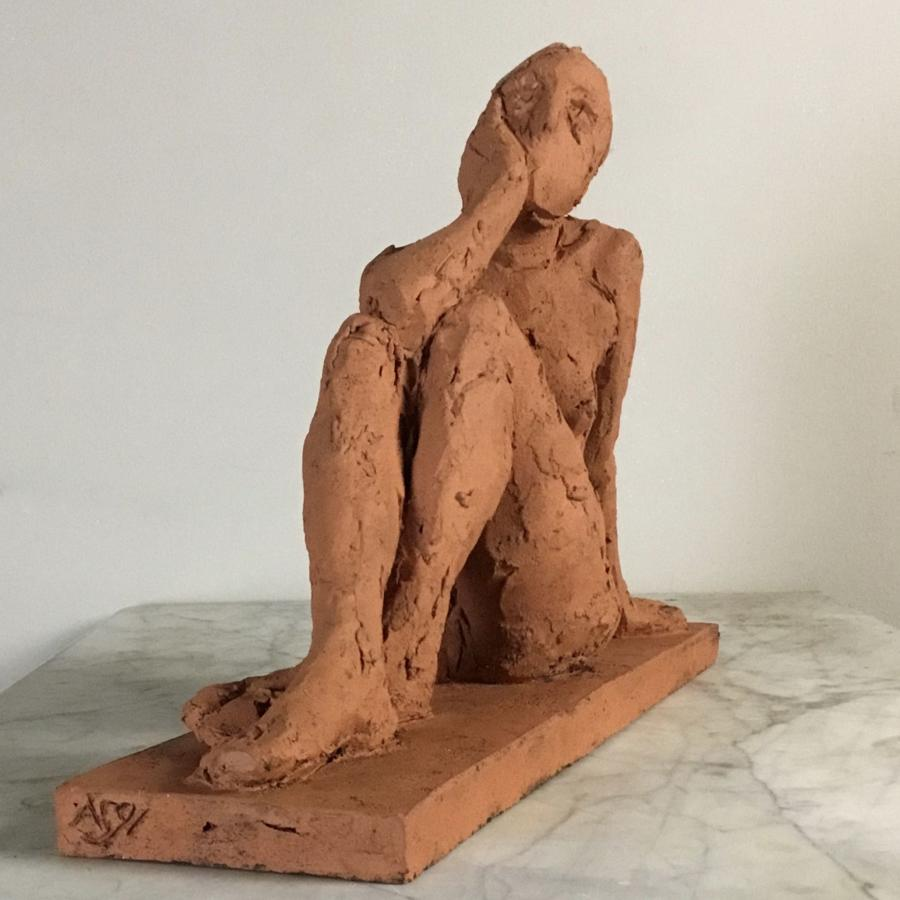 Seated Female Nude Sculpture