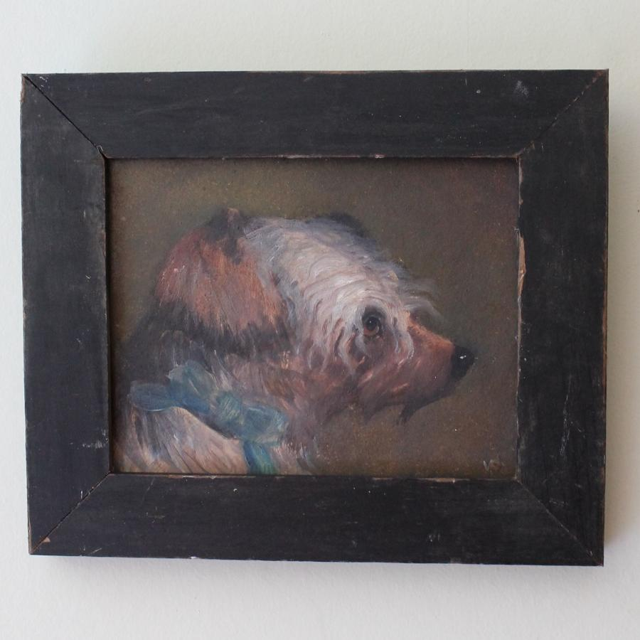 Portrait painting of a Dog