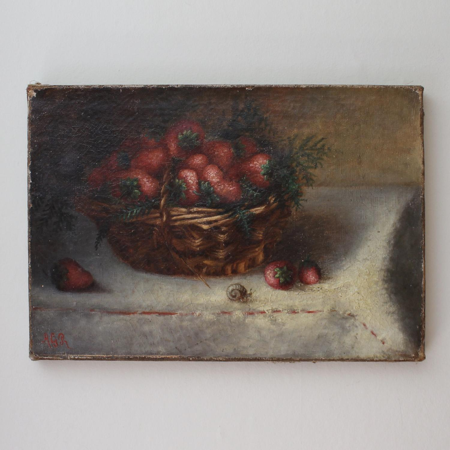 Naive Basket of Strawberries