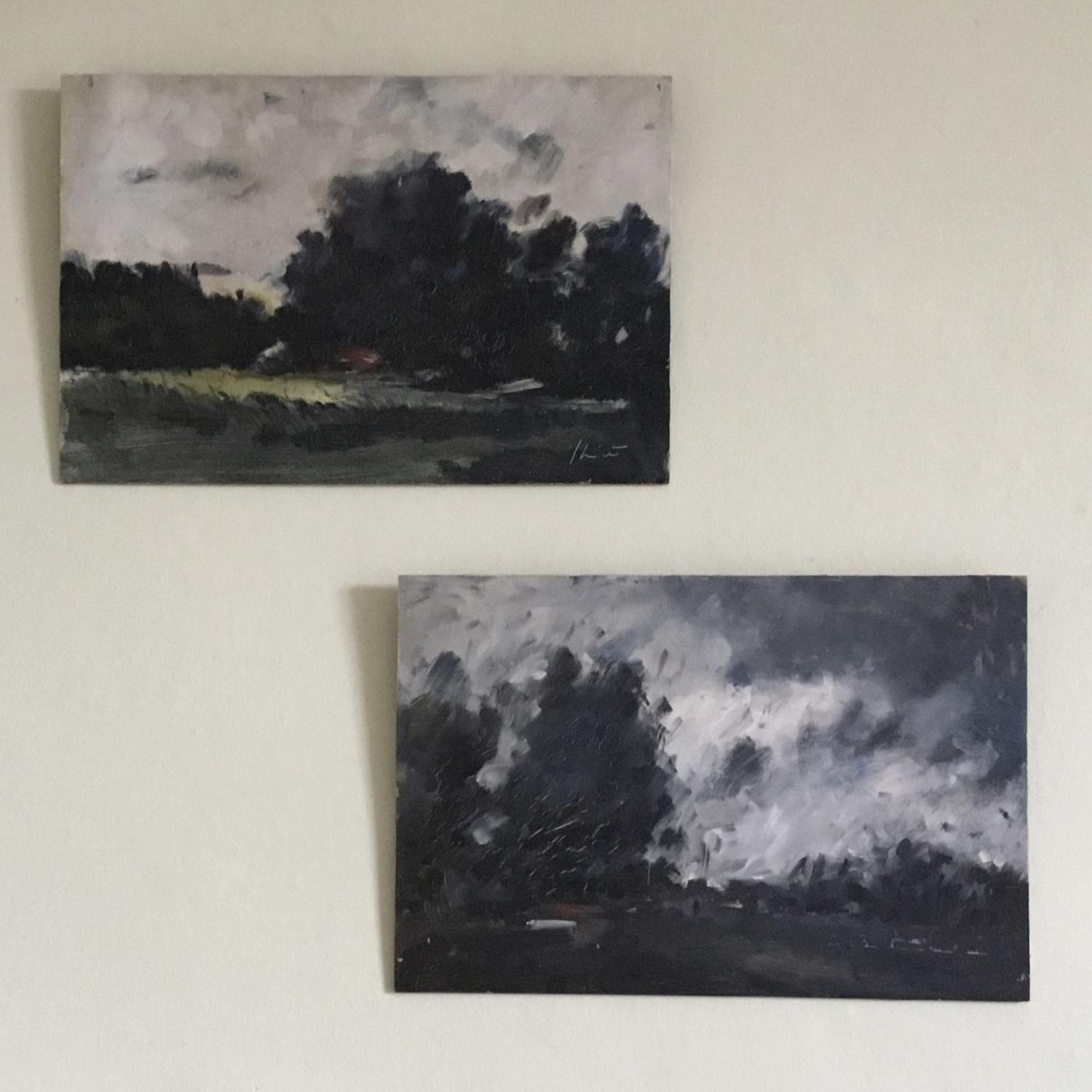 Pair of Landscape Studies