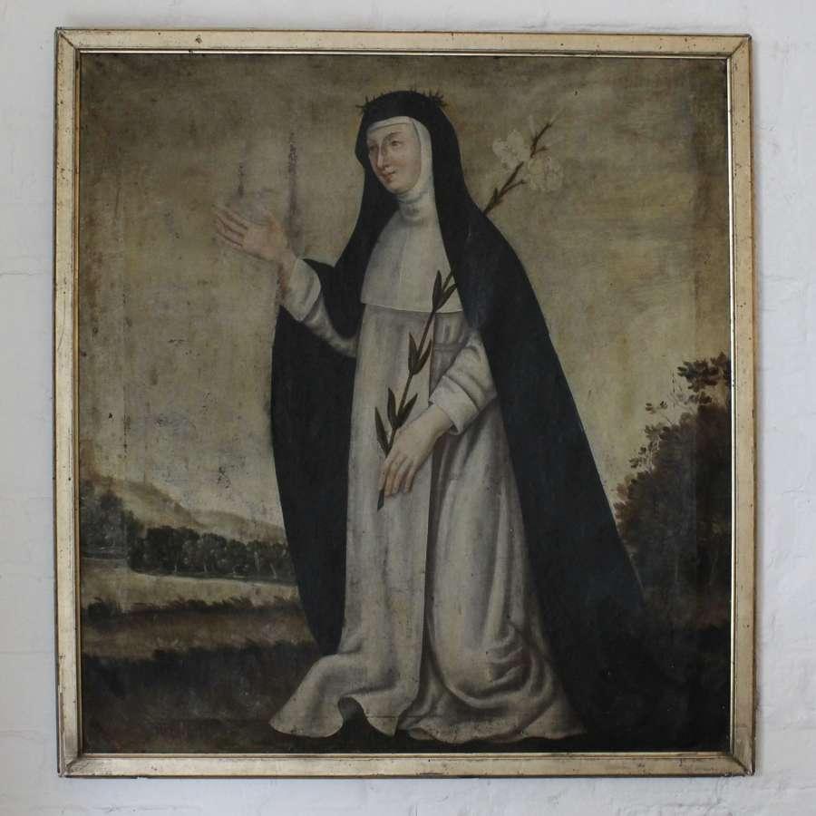 18th Century Painting of Saint Catherine of Siena