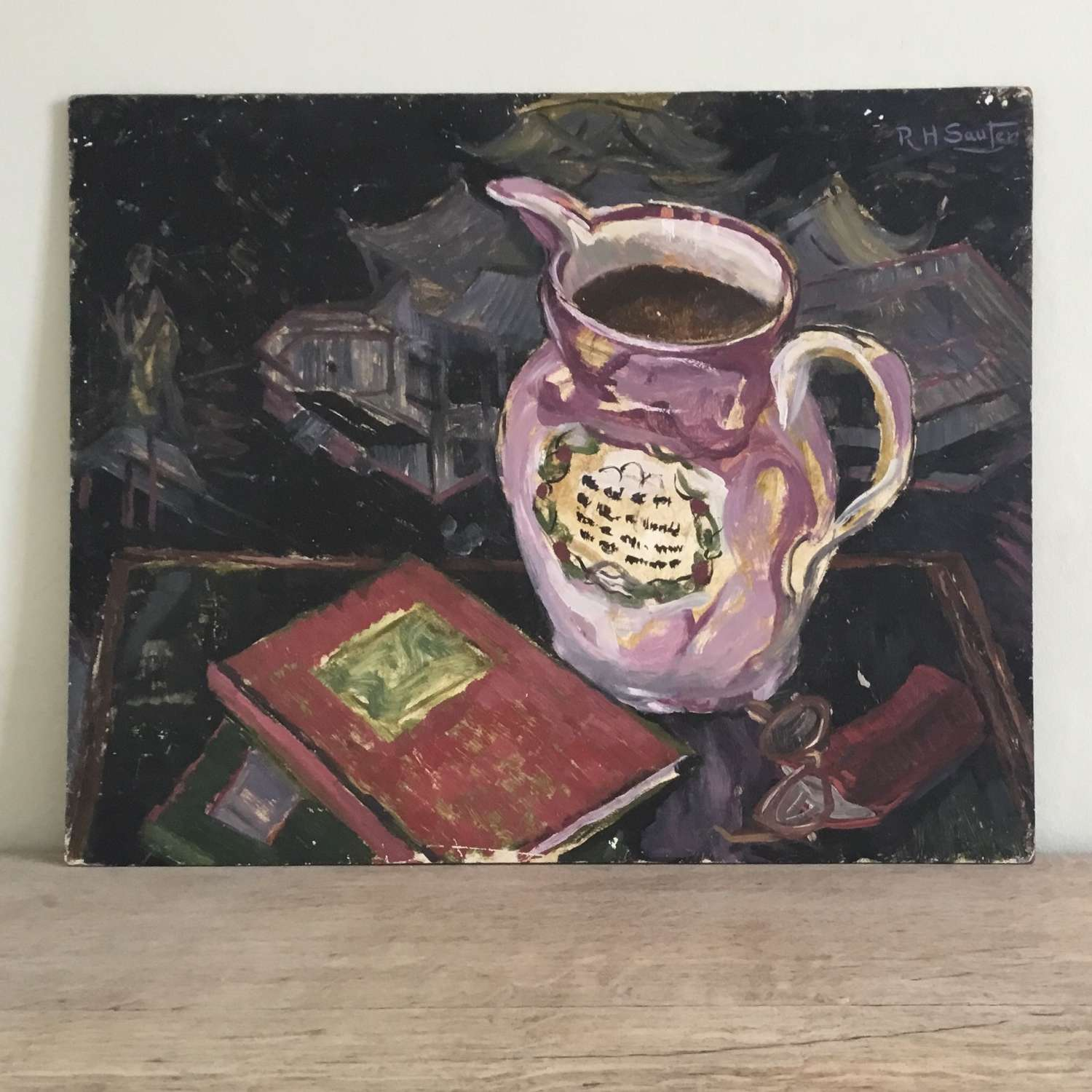Jug and Book by RH Sauter