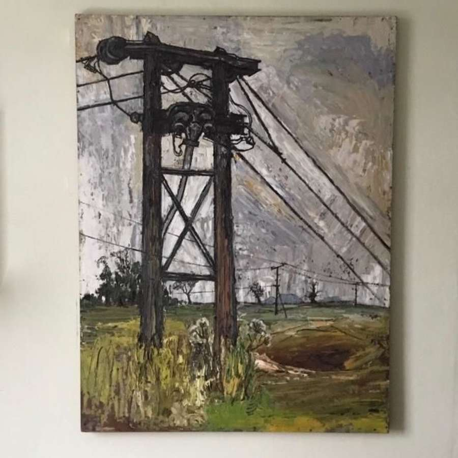 Landscape with Electricity Pylon