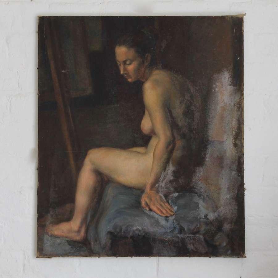 Nude female study by Alys Woodman