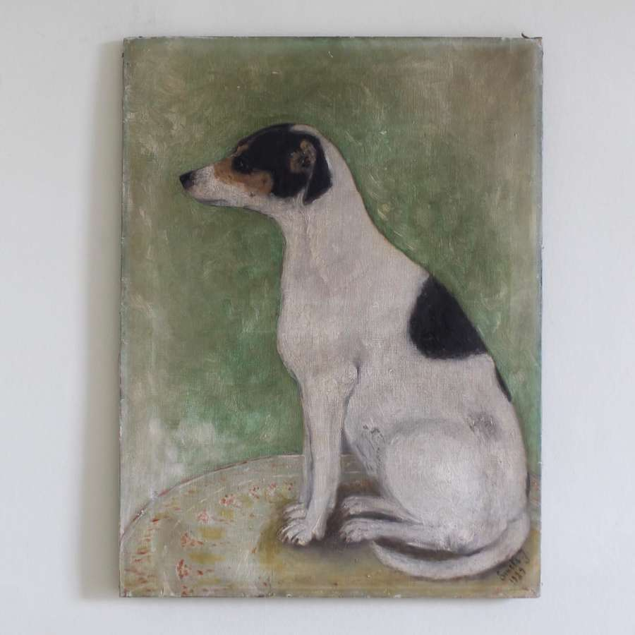 Naive painting of a terrier
