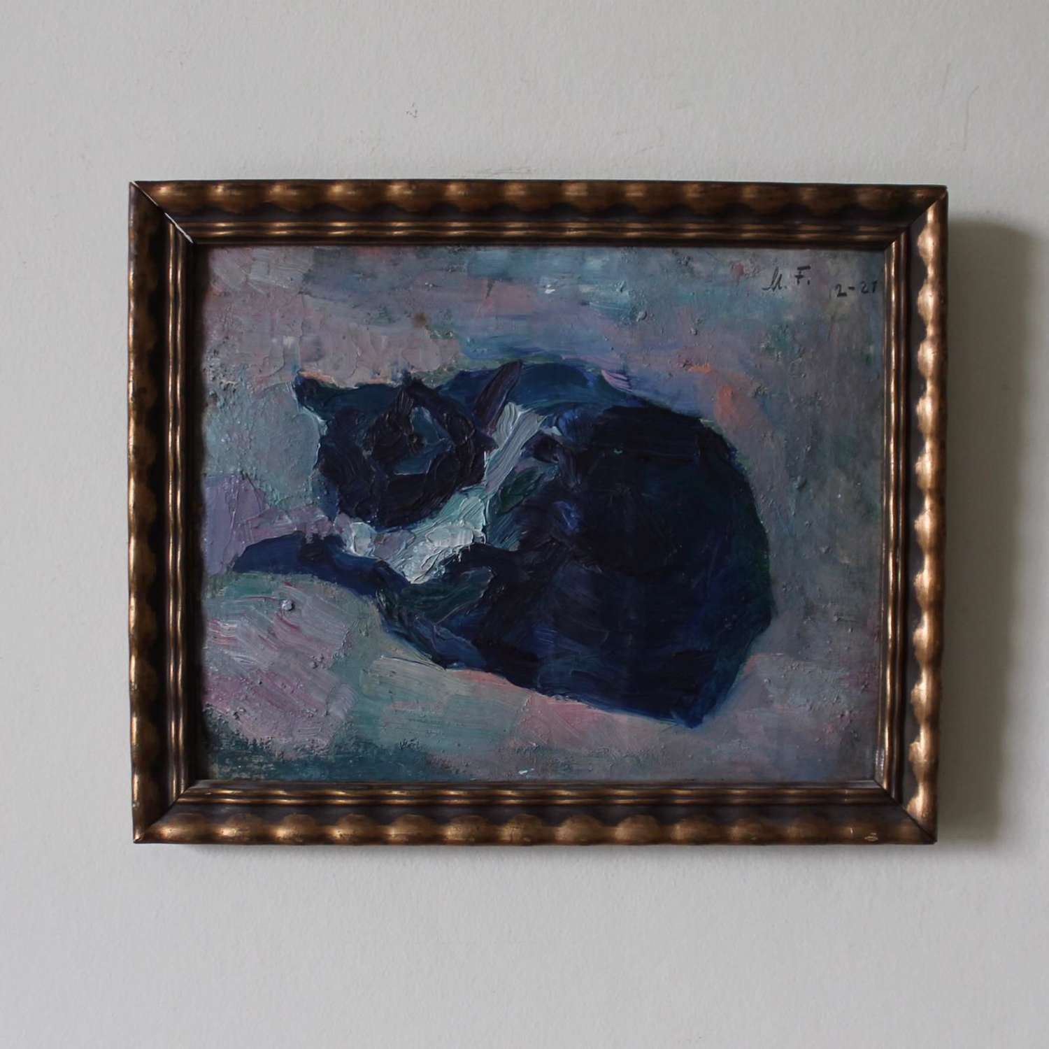 Study of a Sleeping Cat