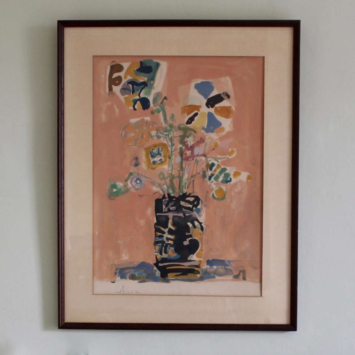 Vase of Flowers Lithograph
