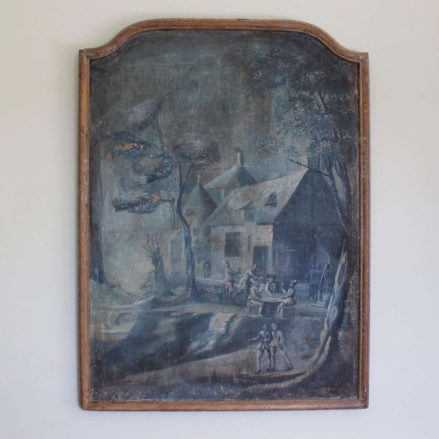 Late 18th Century French Oil on Canvas Panel