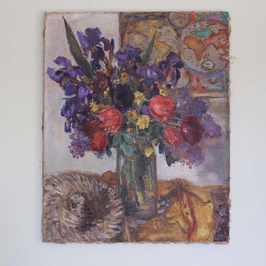 Floral still life by Paul Hannaux