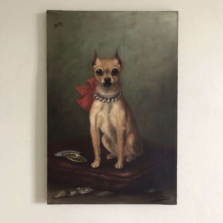 Portrait Painting of a Chihuahua named Petty